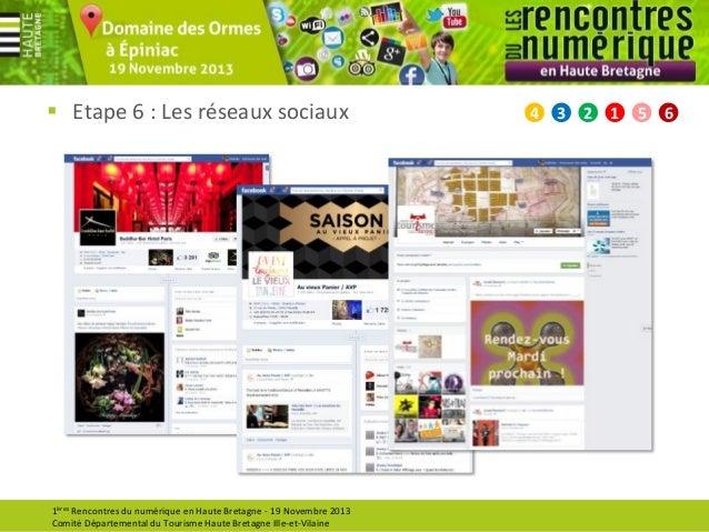  Etape 6 : Les réseaux sociaux  1ères Rencontres du numérique en Haute Bretagne - 19 Novembre 2013 Comité Départemental d...