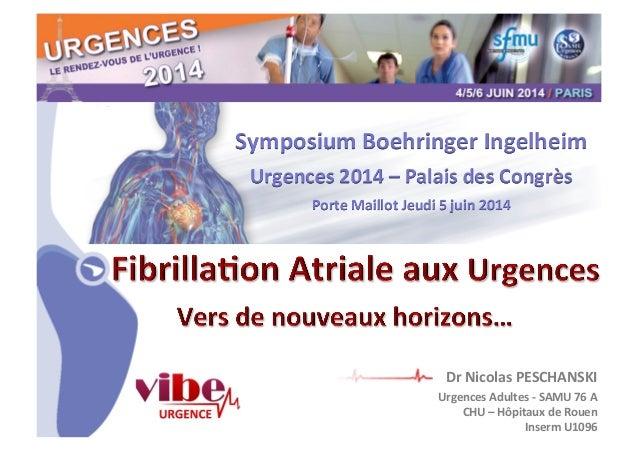 CHU_ Hôpitaux de Rouen - page 1 Symposium  Boehringer  Ingelheim   Urgences  2014  –  Palais  des  Congrès...