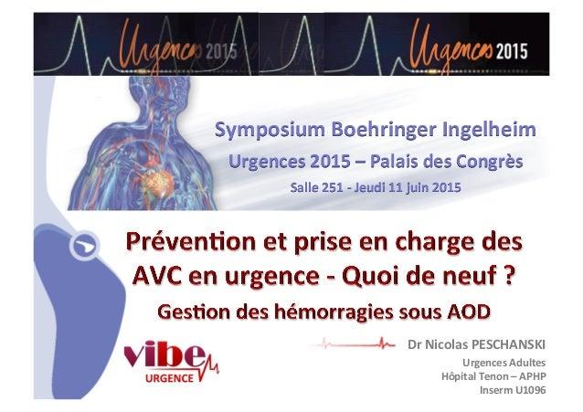 CHU_ Hôpitaux de Rouen - page 1 Symposium  Boehringer  Ingelheim   Urgences  2015  –  Palais  des  Congrès...