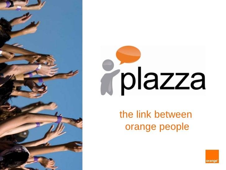 the link between  orange people