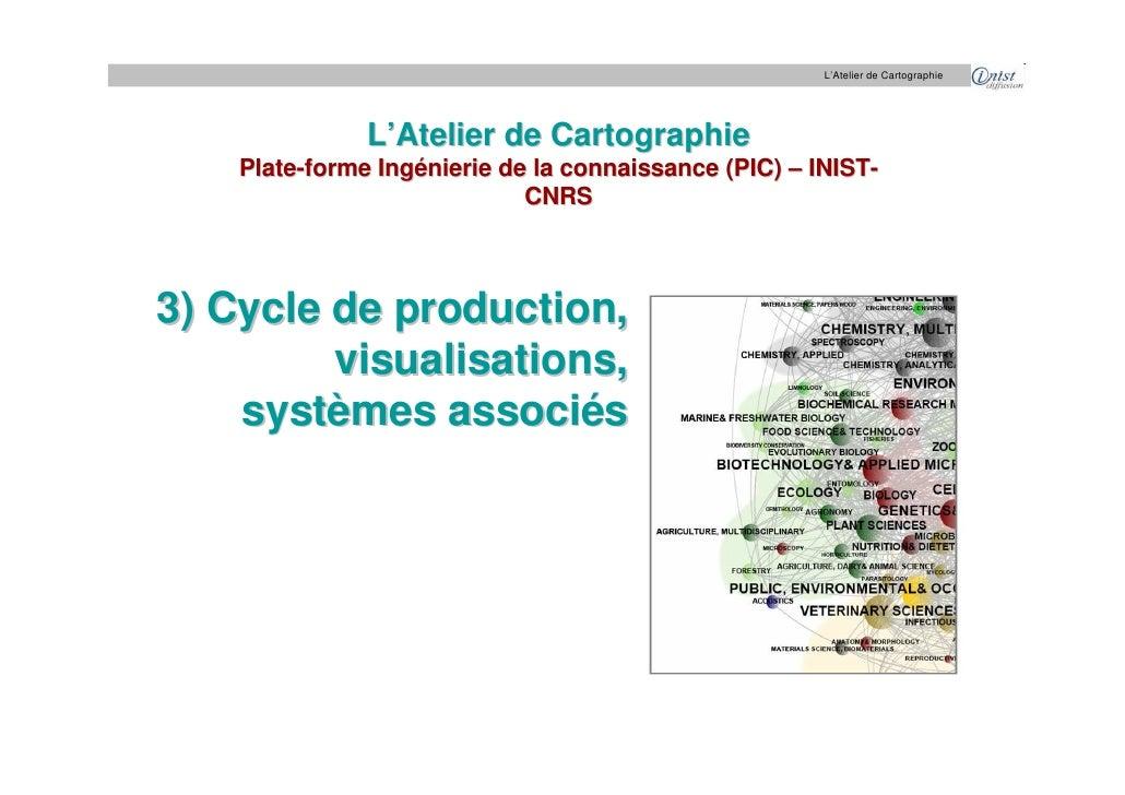 L'Atelier de Cartographie                    L'Atelier de Cartographie     Plate-forme Ingénierie de la connaissance (PIC)...