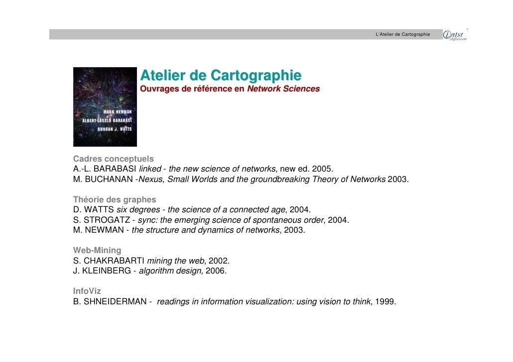 L'Atelier de Cartographie                      Atelier de Cartographie                  Ouvrages de référence en Network S...