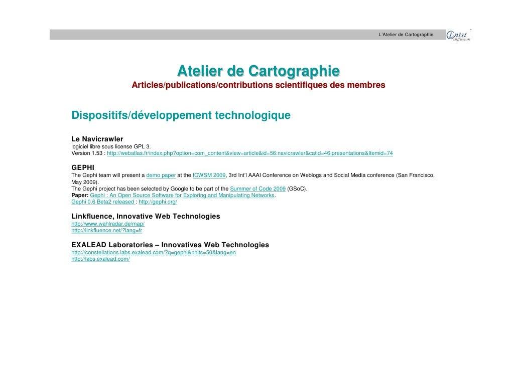 L'Atelier de Cartographie                                              Atelier de Cartographie                          Ar...