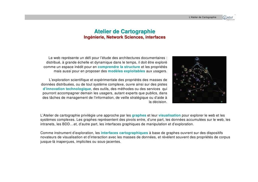 L'Atelier de Cartographie                                      Atelier de Cartographie                           Ingénieri...