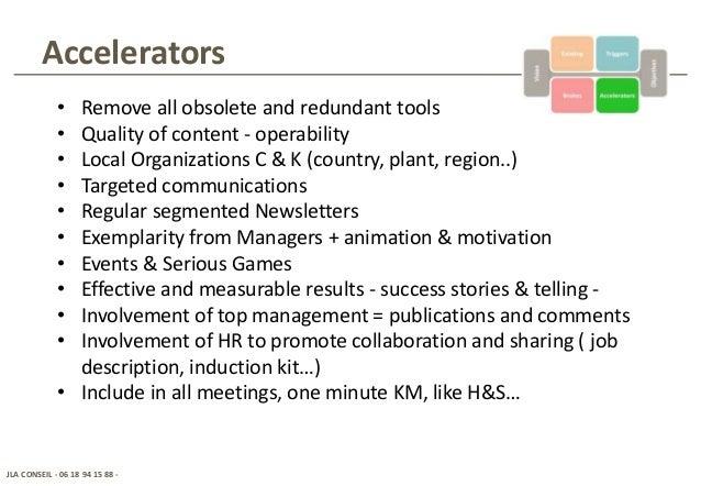 How deploy a KM platform in an international context – Job Description for Animator