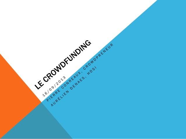 ATELIER Présentation du crowdfunding Pour quel projet et pour quel besoin ? Choisir sa plateforme Internet Un exercice de ...