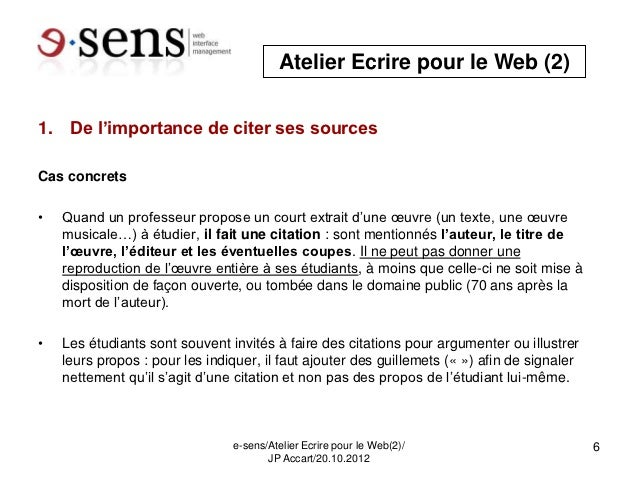 atelier ecrire pour le web universit de gen ve droit de citation. Black Bedroom Furniture Sets. Home Design Ideas