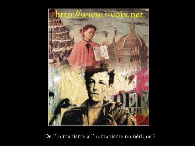 De l'humanisme à l'humanisme numérique ?