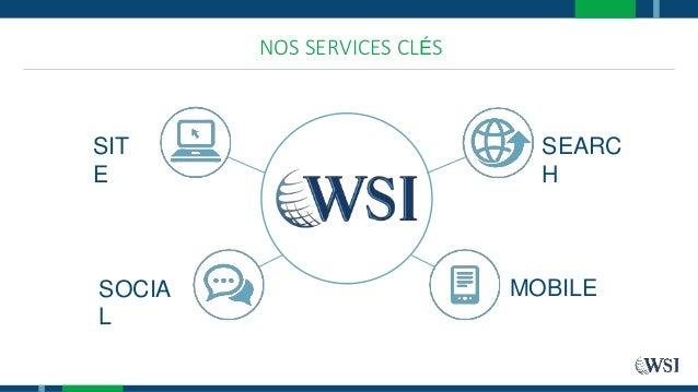 SIT E SEARC H SOCIA L MOBILE NOS SERVICES CLÉS