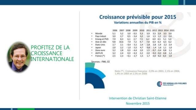 PROFITEZ DE LA CROISSANCE INTERNATIONALE