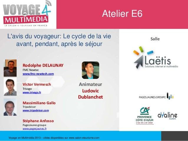 Atelier E6Lavis du voyageur: Le cycle de la vie                                                    Salle   avant, pendant,...