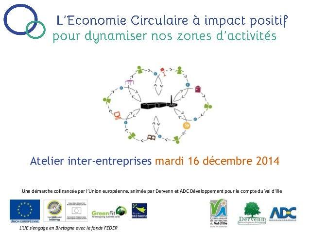Atelier inter-entreprises mardi 16 décembre 2014 Une démarche cofinancée par l'Union européenne, animée par Dervenn et ADC...