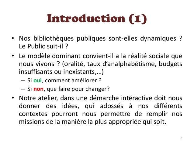 Bibliothèque publique & Communauté Slide 3