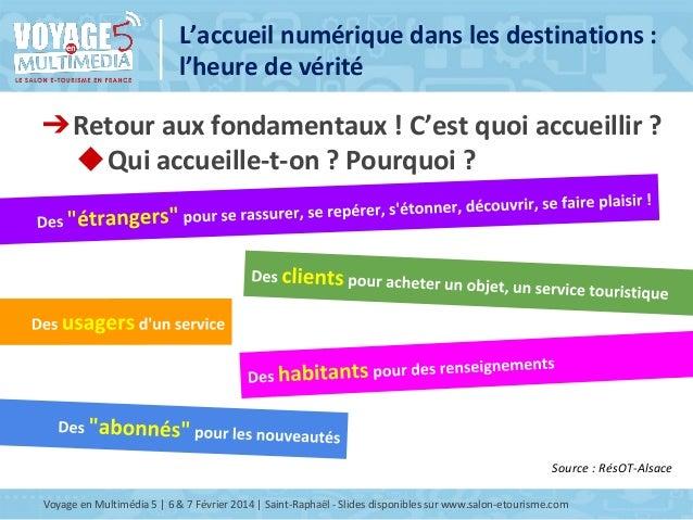 Atelier I14 L'Accueil numérique dans les destinations : l'heure de vérité Slide 3