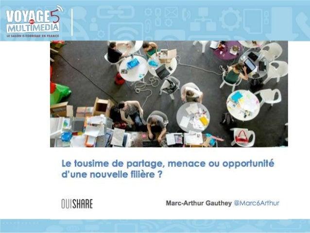 Atelier IE15 Le tourisme de partage : menace ou opportunité d'une nouvelle filière ? Slide 2