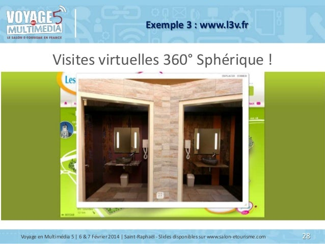 Exemple 3 : www.l3v.fr  Visites virtuelles 360° Sphérique !  Voyage en Multimédia 5   6 & 7 Février 2014   Saint-Raphaël -...