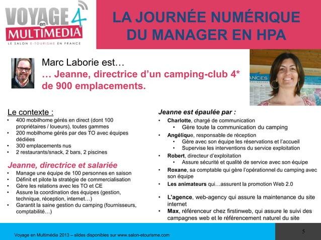 LA JOURNÉE NUMÉRIQUE                                                   DU MANAGER EN HPA                 Marc Laborie est…...