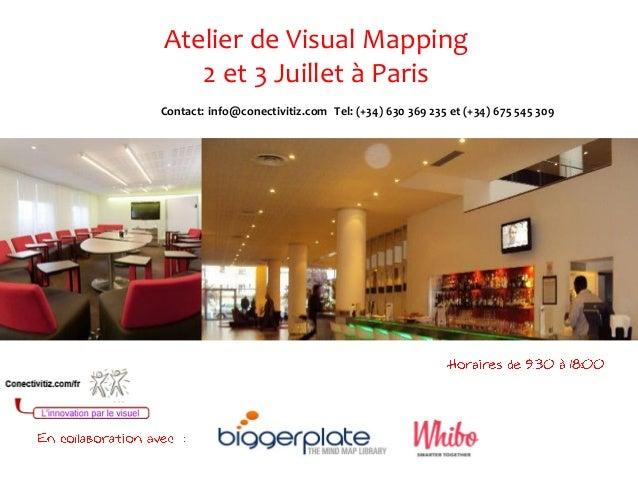 Contact: info@conectivitiz.com Tel: (+34) 630 369 235 et (+34) 675 545 309Atelier de Visual Mapping2 et 3 Juillet à Paris