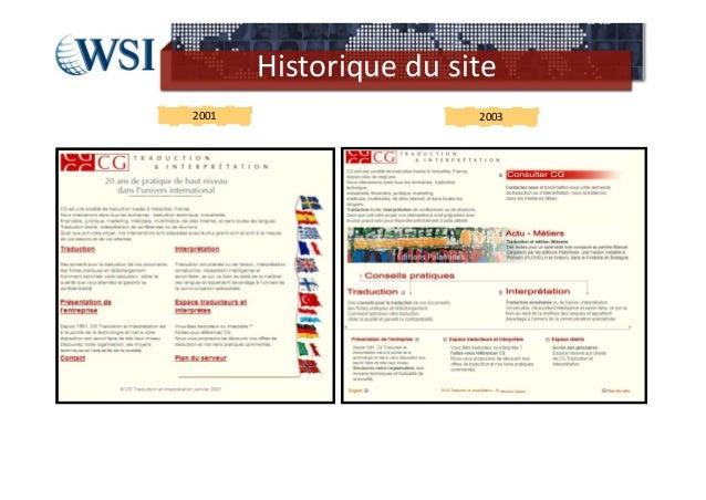 Historique dusite2001                   2003