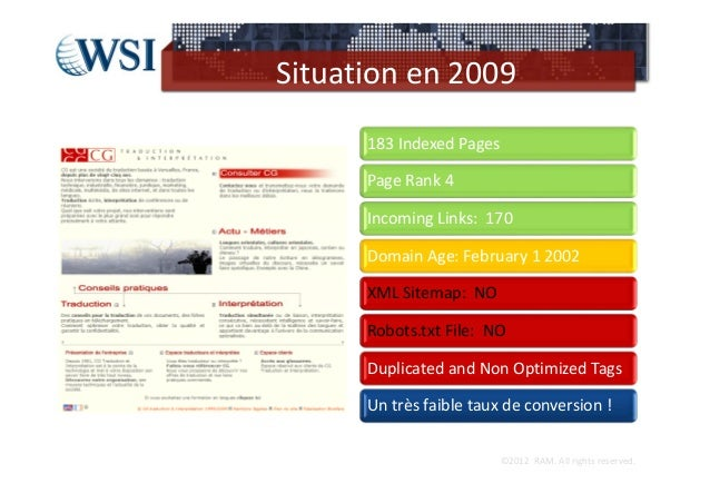 Situationen2009      183IndexedPages      PageRank4      IncomingLinks:170      DomainAge:February12002      ...