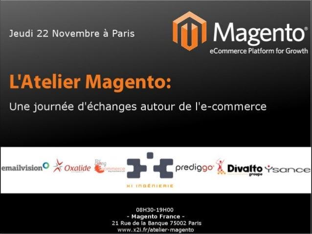 Atelier Magento avec  xi ingenierie