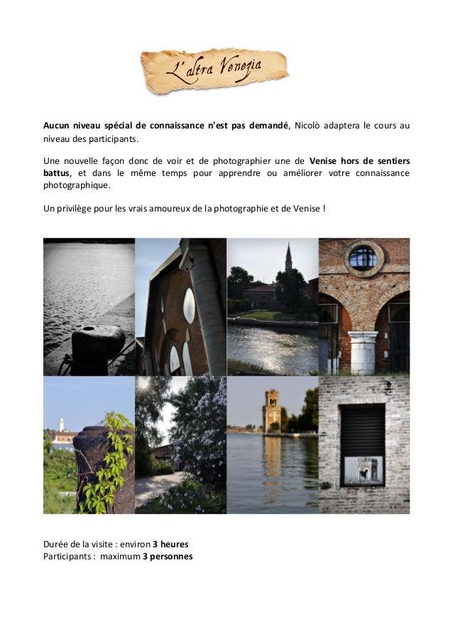 Atelier photo dans l'Arsenal de Venise Slide 2