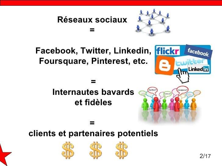Atelier : comment mettre en place un plan de communication sur les réseaux sociaux Slide 2