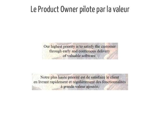 Le Product Owner pilote par la valeur