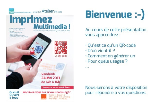 ImprimezUn atelier qui abordera de façonsimple et ludique le QR-code- Histoire- Applications grand public- Applications pr...