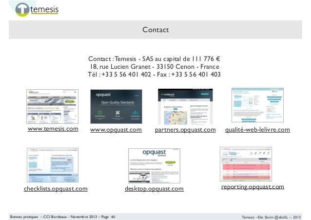 atelier qualit u00e9 web    opquast - cession entreprises