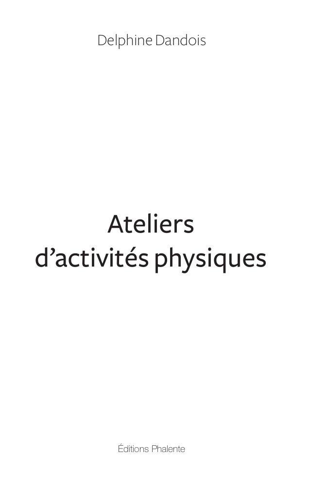 Ateliers activités physiques Slide 3