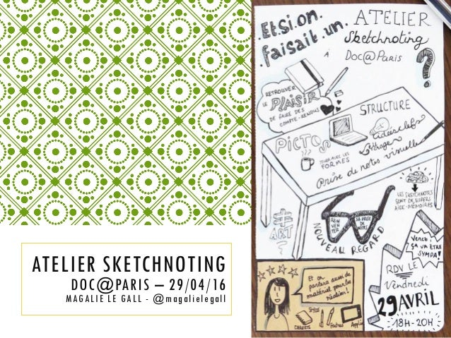 ATELIER SKETCHNOTING DOC@PARIS – 29/04/16 MAGALIE LE GALL - @magalielegall