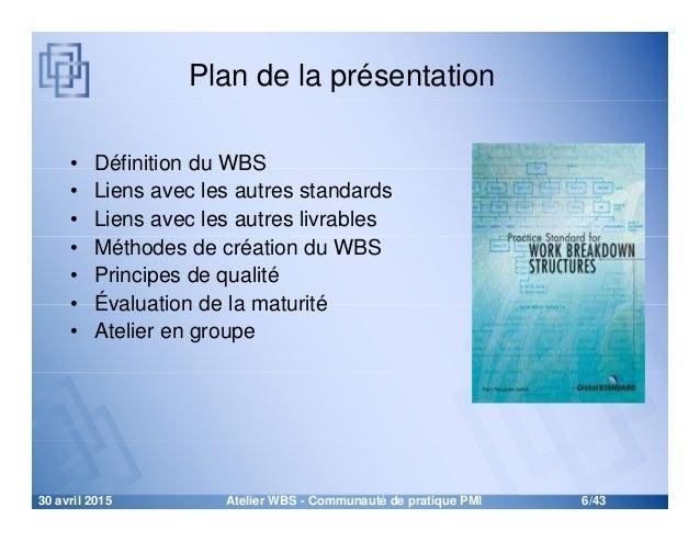 Atelier sur le WBS (Work Breakdown Structure) - L'outil