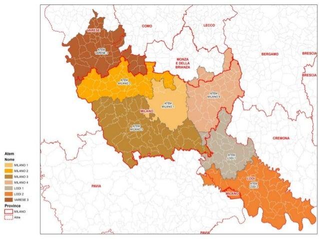L' A.TE.M. Milano 1  È il secondo ATEM più grande d'Italia in termini di bacino d'utenza (1.582.013 abitanti al 2010), a ...