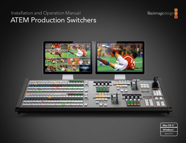 Blackmagic Design Atem 1 Operation Manual
