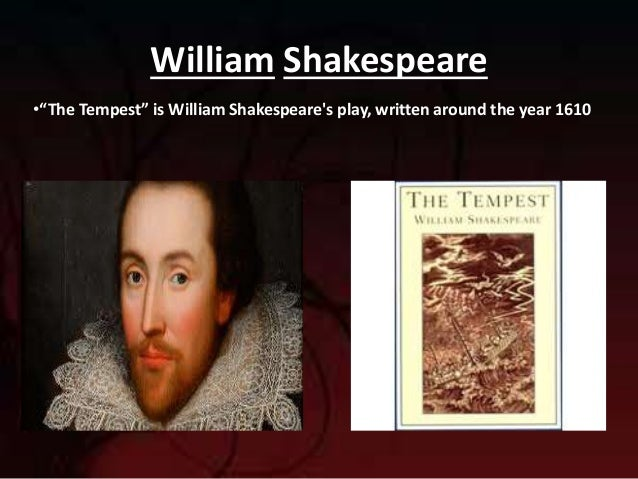 colonization and slavery in the tempest a play by william shakespeare William strachey's dramatic account of a shipwreck off bermuda in 1609 was probably a source for shakespeare's play, the tempest view images from this item (16) usage terms public domain.