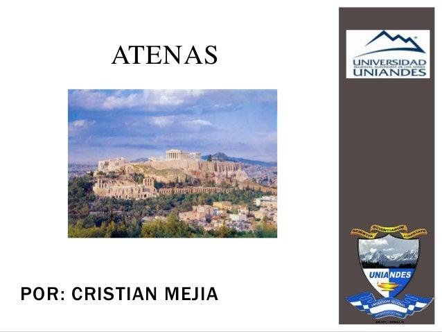 POR: CRISTIAN MEJIA ATENAS