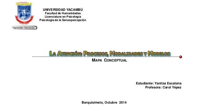 Estudiante: Yanitza Escalona Profesora: Carol Yépez Barquisimeto, Octubre 2014 MAPA CONCEPTUAL UNIVERSIDAD YACAMBÚ Faculta...