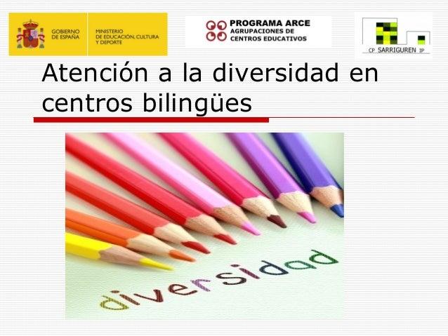 Atención a la diversidad encentros bilingües