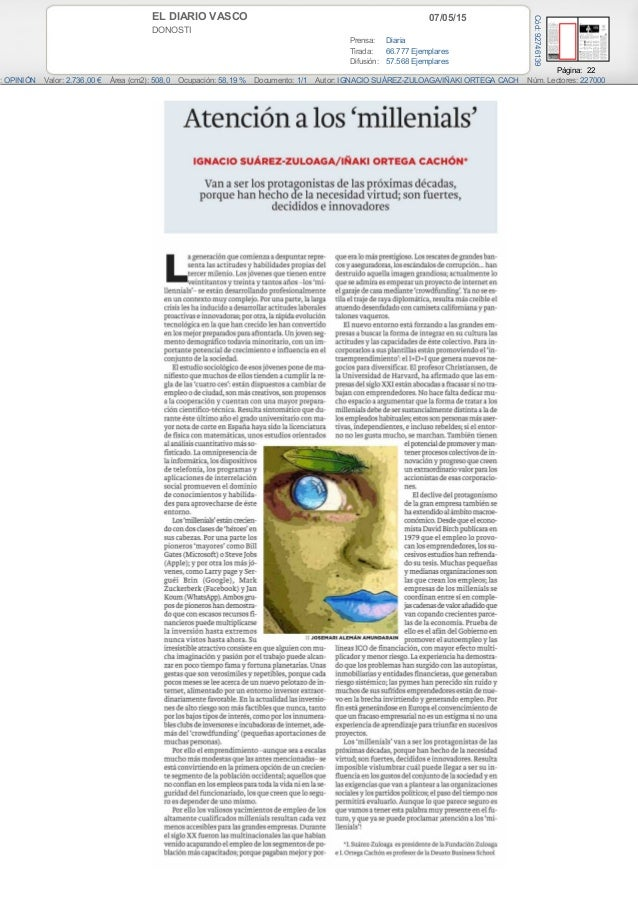 07/05/15EL DIARIO VASCO DONOSTI Prensa: Diaria Tirada: 66.777 Ejemplares Difusión: 57.568 Ejemplares Página: 22 : OPINIÓN ...