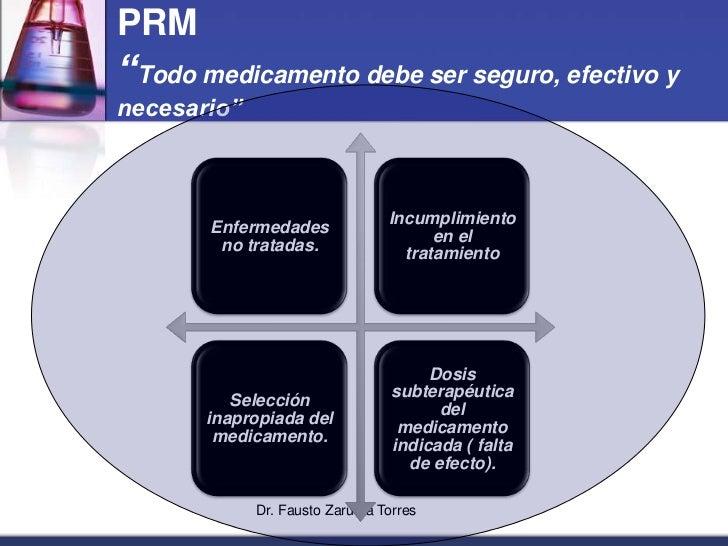 """Dr. Fausto Zaruma Torres<br />PRM""""Todo medicamento debe ser seguro, efectivo y necesario""""<br />"""