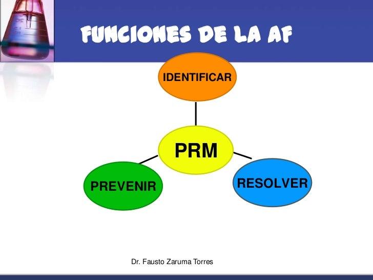 Dr. Fausto Zaruma Torres<br />Funciones de la AF<br />