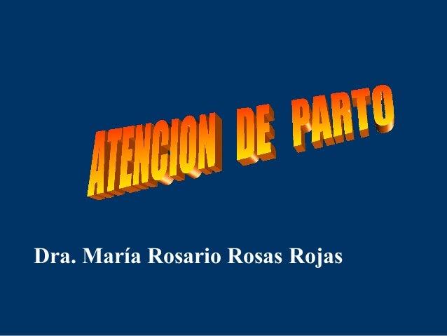 Dra. María Rosario Rosas Rojas