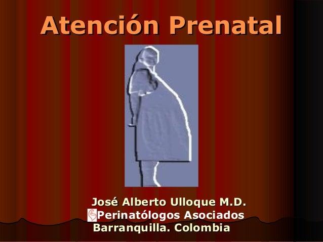 Atención Prenatal   José Alberto Ulloque M.D.    Perinatólogos Asociados   Barranquilla. Colombia