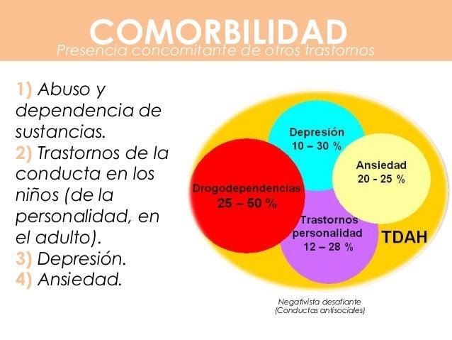 COMORBILIDAD 68,2% 1.- Trastornos de Ansiedad: 25% 2.- Trastorno de Gilles Tourette: 20%-90% 3.- Trastornos del Aprendizaj...