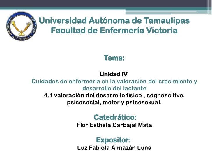 Universidad Autónoma de Tamaulipas<br />Facultad de Enfermería Victoria<br />Tema:<br />Unidad IV<br />Cuidados de enferm...