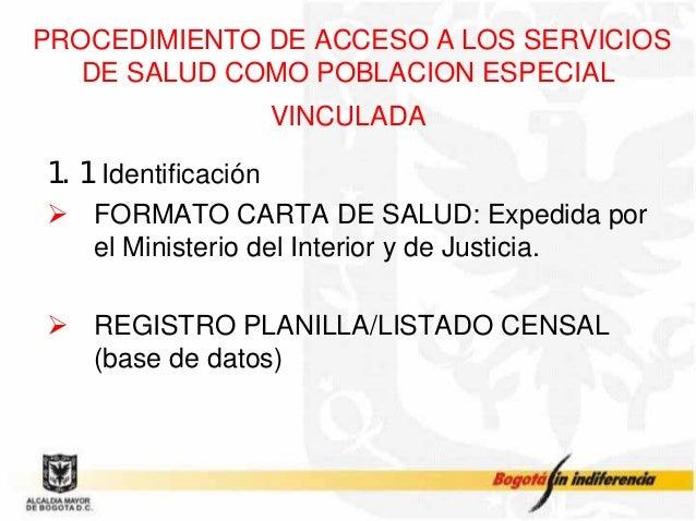 Atencion en salud para la poblacion desmovilizada y desplaada for Ministerio interior y justicia intranet