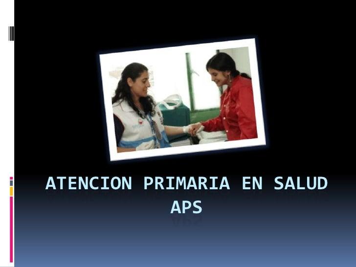 Atencion primaria en saludaps<br />