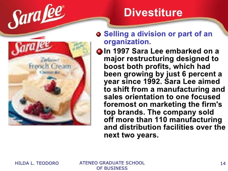 sara lee retrenchment strategy With the retrenchment strategy, sara lee corporation is able to transform it into a more tightly focused food, beverage, andshow more.