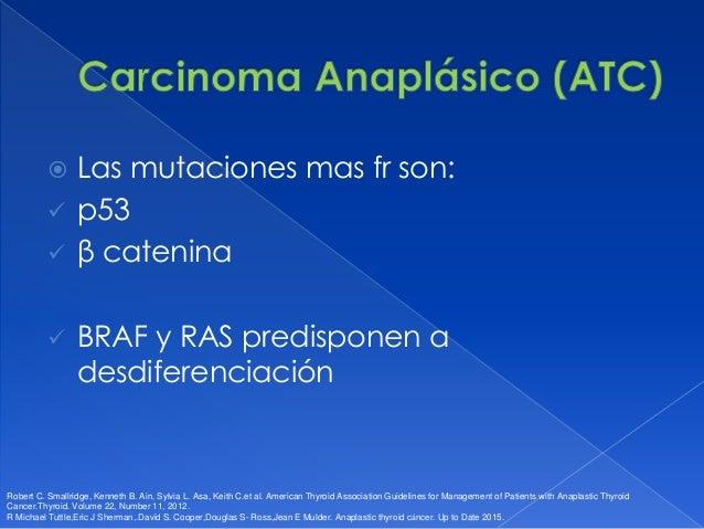  TSH  Calcemia  Tg en CDT metastásico Robert C. Smallridge, Kenneth B. Ain, Sylvia L. Asa, Keith C.et al. American Thyr...